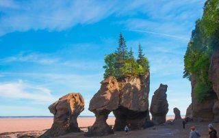 Bay of Fundy Hopewell Rocks getijdenverschillen