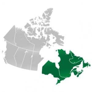 Op vakantie naar Oost-Canada, regio's van Canada