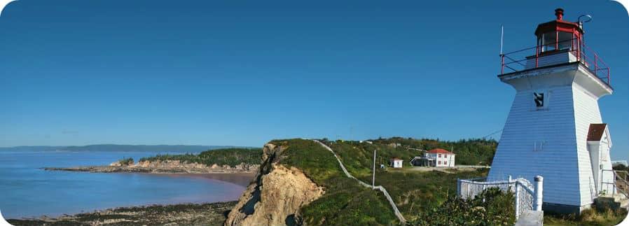 Cape Enrage New Brunswick abseilen zipline vuurtoren