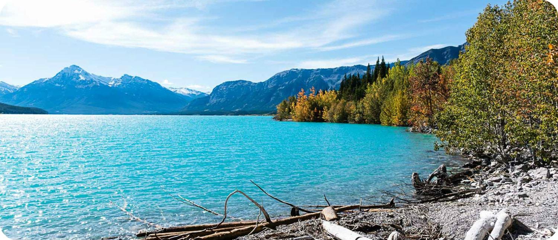 Meren in Banff National Park rustig