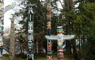 Totempalen bekijken British Columbia