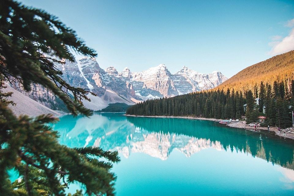 Banff National Park bezienswaardigheden Moraine Lake