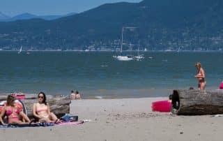 Stadsstranden van Vancouver stranden Kitsilano Beach