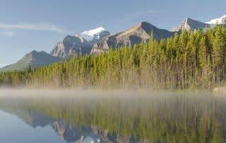 Alberta weer klimaat landschap