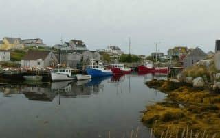 Peggy's Cove Nova Scotia vuurtoren haventje