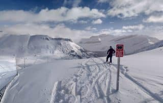 Skien bij Lake Louise Banff Alberta