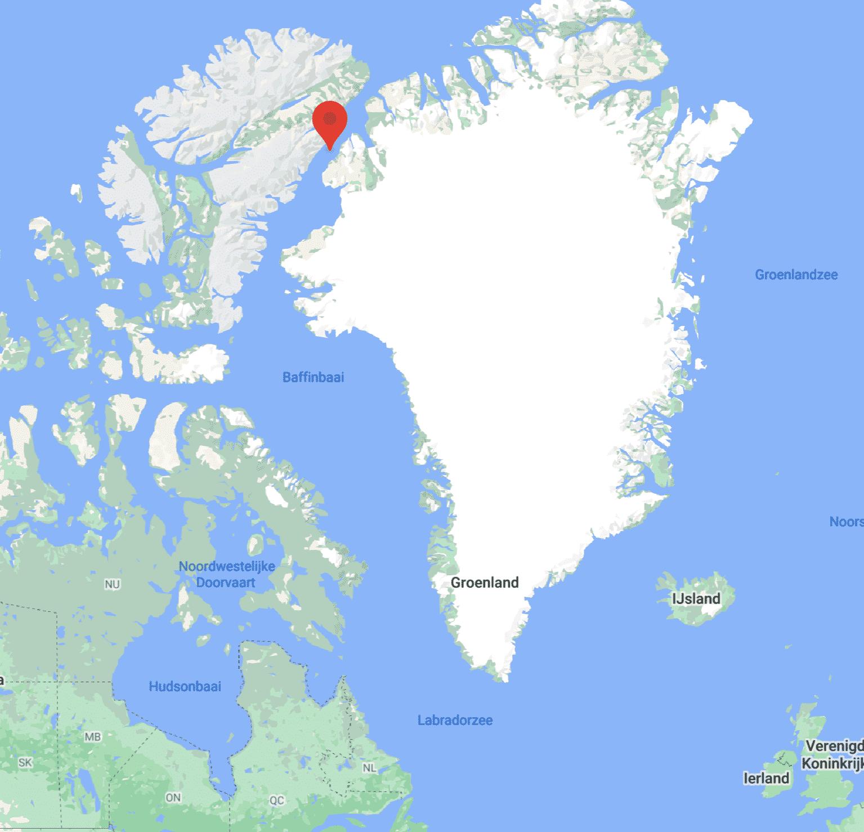 Hans island ligging