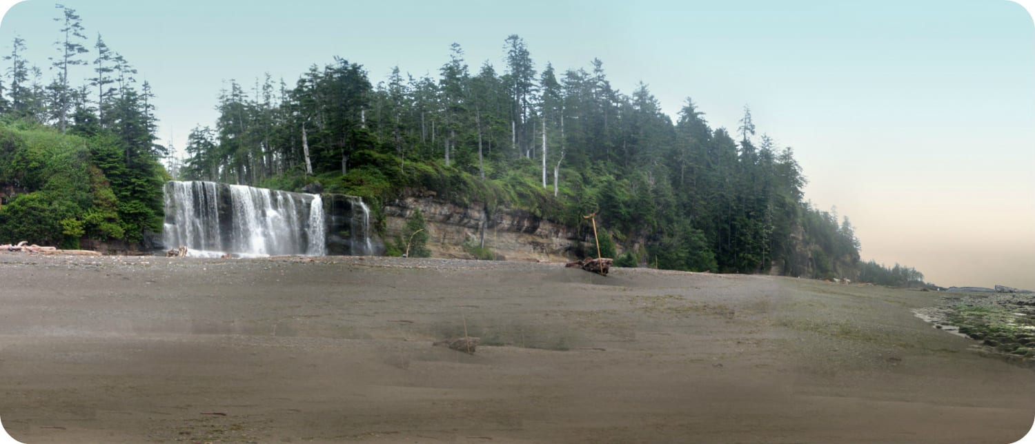 Tsusiat Falls West Coast Trail Vancouver Island