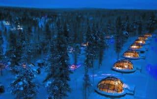 glazen iglo's noorderlicht Fort McMurray Alberta