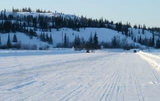 winterreis naar Canada ice road