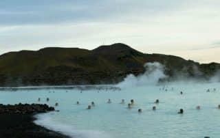 Naar Canada via IJsland Blue Lagoon