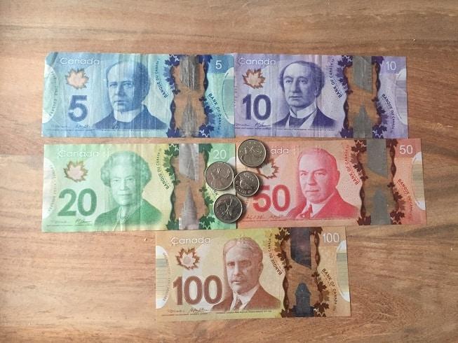 Canadees geld canadese bankbiljetten