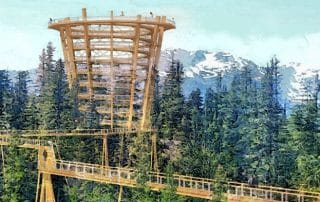 Sea to Sky Gondola Tree Walk bij Squamish