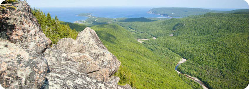 Franey Mountain wandeling Cabot Trail Cape Breton Island Nova Scotia