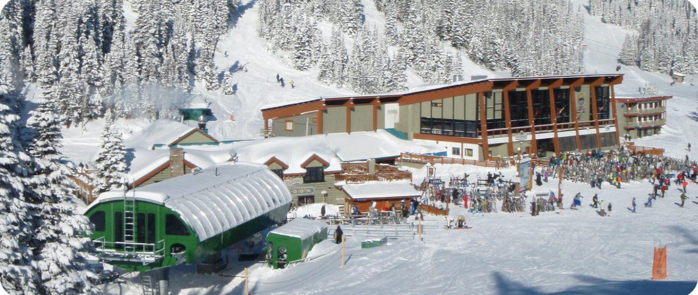 skien bij Sunshine Village Banff