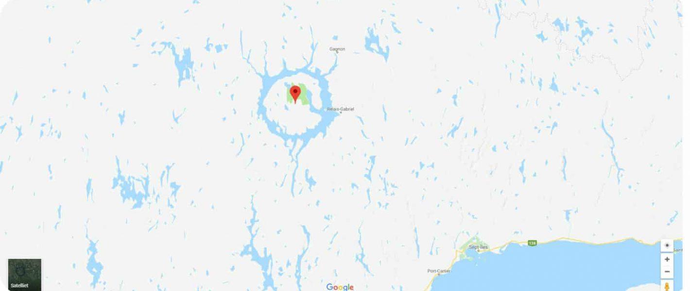 Lake Manicouagan René Levasseur Island Quebec
