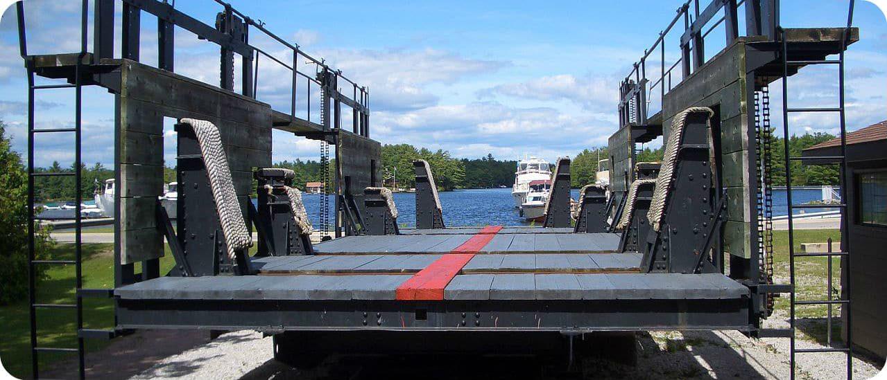 Big Chute Marine Railway Ontario