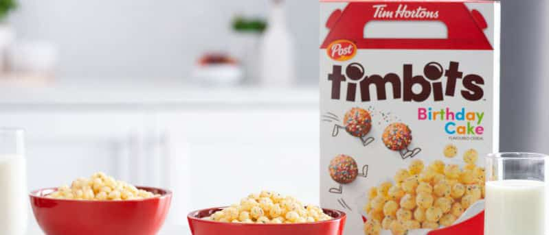 Timbits cereals Tim Hortons
